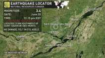 Magnitude 3.4 earthquake rattles parts of the Laurentians