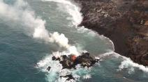 Kilauea volcano creates new island off Hawaii's coast