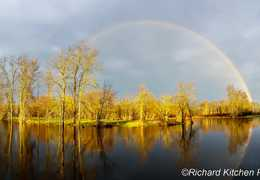 Rainbow in Angus, ON: Photo by Rick Kitchen
