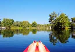 A beautiful hot day perfect for kayaking. Courtesy of Countess Annabell